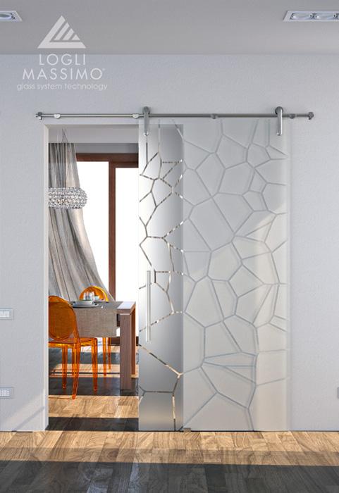 Porte a vetri scorrevoli vetraria effemme - Vetri decorati per porte scorrevoli ...